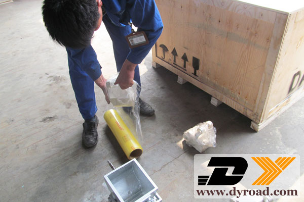DY-HPT pavement coating machine export to Phillipines