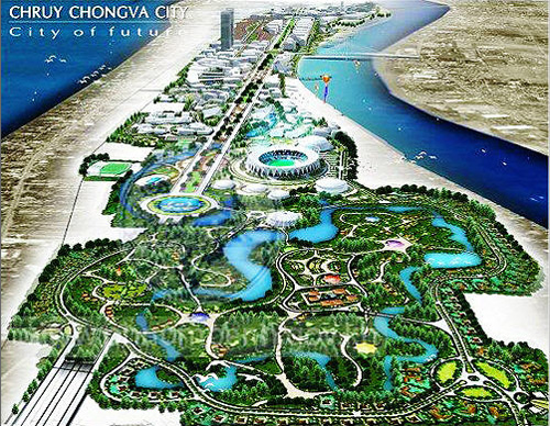 Chroy Changvar Satellite City in Phnom Penh